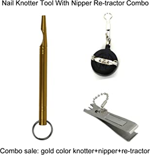 Aventik CNC Machined Nail Knotter Tool, Easy Knot Tying Tool One of The Best Fishing Accessory with Nipper and Re-Tractor Combo