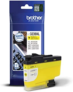 Brother LC-3239XLY Inkjet Cartridge, Yellow, Single Pack, Ultra High Yield, Includes 1 x Inkjet Cartridge, Brother Genuine...