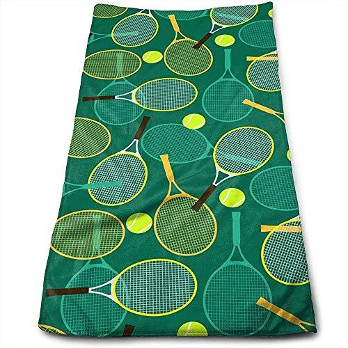 Abel Berth Gesichtstücher Tennisschläger und -bälle Superabsorbierende Haartrockner-Mehrzweckhandtücher für Bad, Hand, Gesicht, Fitnessstudio und Spa
