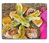 luxlady Gaming Mousepad Alimentos y bebidas Italiano Cocktail Fried Zucchini Flores con mortadela cortado en frío y queso scamorza imagen ID 7152537