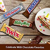 SNICKERS, TWIX, 3 MUSKETEERS & MILKY WAY Full Size Bars Christmas Candy Variety Mix, 18-Count Box