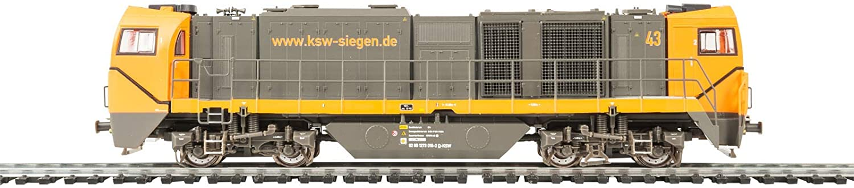 Mehano 58906 KSW asymmetrisch - DC Vossloh G2000, Schwarz & Orange, H0