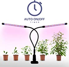 Plant Grow Lamp, Megulla LED Grow Light 10Inch Strips with Dimmer, Timer(3/9/12H) and Tri-Color, Free USB Adapter, for Indoor Plants, Greenhouse, Vegetables, Herbs and Potted Plant (Dual Head)