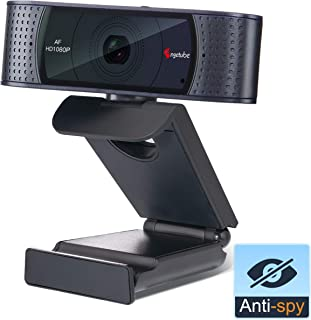 1080P Webcam with Privacy Shutter- HD Streaming Camera for Video Calling and Recording Works with Windows 10 Xbox one Skype Desktop or Laptop Camera by Angetube