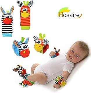 Hosairen Calcetines y Muñeca para Bebé, con Juguetes, Adecuado para bebé 0-6 Meses, Sonajeros incorporados