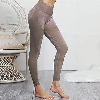 FIYOMET Leggings da Allenamento per Donna Running Tights Pantaloni da Yoga Stampati Vita Alta Allenamento Leggings Tummy Control for Women Donna Yoga & Pilates