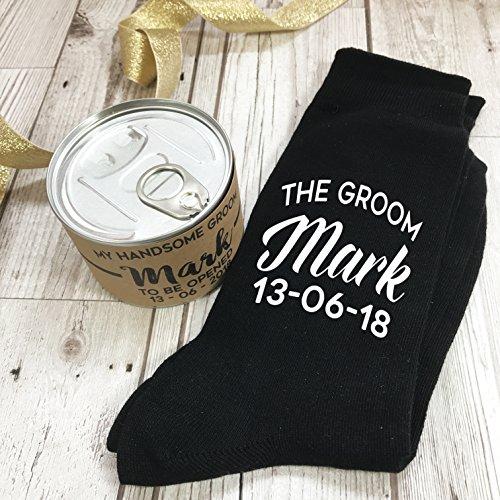 Calcetín Personalizado para novio- Recipiente original para regalo.