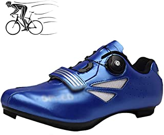 ZMYC Bicycle Shoes For Adults MTB Shoes Breathable Racing Shoes Cycling Shoes Unisex Padding For Mountain Bike Shoes (Color : Blue, Size : 47)