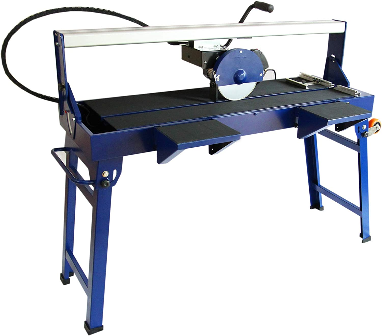 Banco Cortador de Azulejos Húmedos Máquina Corta Azulejos Eléctrico Hoja de Diamante de Corte Láser Ajustable 1200mm 1400W