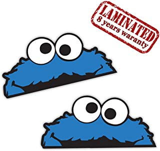 2 x PVC Cookie Monster Stickers B 99
