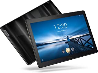 """Lenovo Smart Tab P10 10.1"""" Android Tablet, Alexa-Enabled Smart Device with Fingerprint Sensor and Smart Dock Featuring 4 Dolby Atmos Speakers - 32GB Storage with Alexa Enabled Charging Dock Included"""