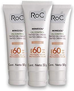 Kit com 3 Protetores Solar ROC Oil Control 50g