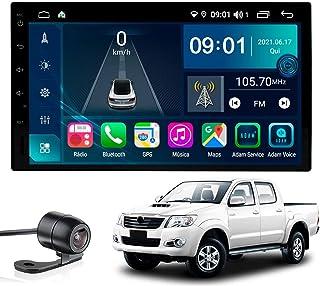 Multimídia Hilux 2006 2007 2008 2009 2010 Tela 7'' Atom Core CarPlay+ Android Auto Gps Câmera de ré e Frontal Sem TV 2GB A...