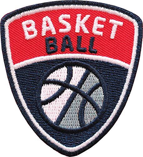Club of Heroes 2 x Basketball Patch 55 x 60 mm gestickt/Aufnäher Patches Bügelflicken Aufbügler aufbügeln aufnähen auf Kleidung Trikot Cap/Sport Basket Ball Ballsport NSA Turnier Team