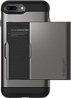Spigen Slim Armor CS Designed for Apple iPhone 8 Plus Case (2017) / Designed for iPhone 7 Plus Case (2016) - Gunmetal