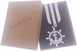 Commemorative Souvenir Badge Army Anniversary Boat Anchor Silvery Black-white Stripe