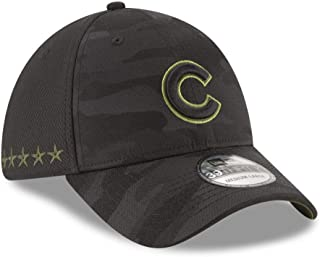 New Era Authentic Chicago Cubs Black 2018 Memorial Day 39THIRTY Flex Hat