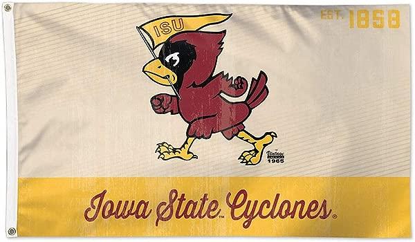 Wincraft Iowa State Cyclones Retro Est 1858 3x5 College Flag