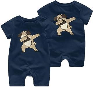 Ives Jean Baby ärmellose Bodysuits Mops 1 Kleinkind Baby Kurzarm Strampler Jumpsuit Kid Pyjamas 0-24 Monate