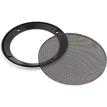 perfk Grilles Rondes dHaut-Parleur en M/étal Durable et Portable pour Voiture Woofer Boitier 4-8 Pouces Blanc 9,45x9,45 Pouces