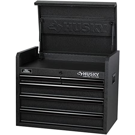Husky 26 in. 5-Drawer Tool Chest, Textured Black