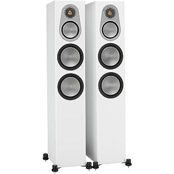 Monitor Audio Silver 300 Floorstanding Speaker Satin White Pair