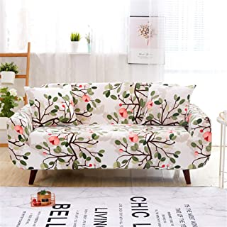 nordmiex Couch Cover Stretch Arm Chair Large Sofa Slipcover,Marble/Black/White/Brown (Loveseat, Pink Flower)