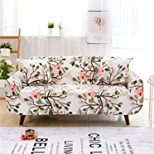 nordmiex Stretch Sofa Slipcovers Fitted Furniture Protector Printed Sofa Cover Stylish Fabric Couch Cover with 2 Pillowcases for 4 Cushion Couch(Sofa-4 Seater,Red Magnolia)