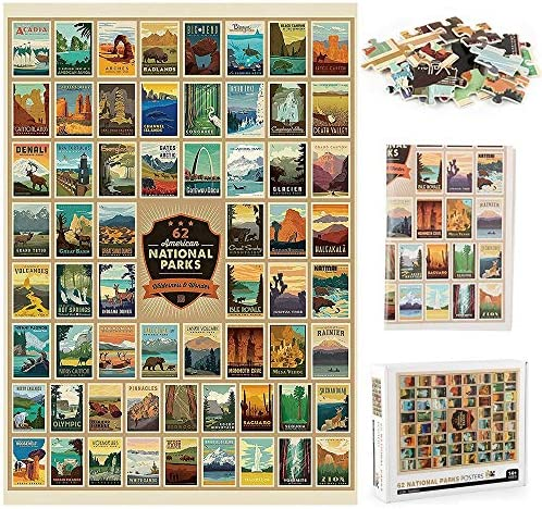 NWIASS National Parks Jigsaw Puzzle Premium Puzzles for Adults 1000 Piece Artwork Style Gifts product image