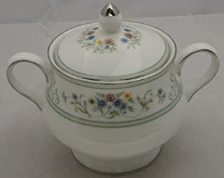Wedgwood Agincourt Green Sugar Bowl With Lid