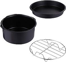 Kit de 3 peças de acessórios para fritadeira a ar Hemoton para churrasco, prato de pizza, caixa de comida, acessório unive...
