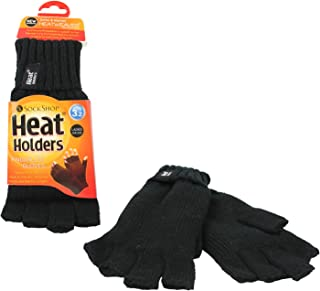 Heat Holders Women's Thick Warm Cold Weather Winter Thermal Fingerless Gloves