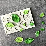 GJEFEGS Hojas de Rosa Molde de Silicona Accesorios de Cocina Molde de Pastel Gumpaste Herramientas de Galletas Dulces Fondant Cake Decoration