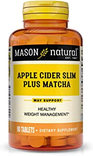 Mason Natural, Apple Cider Slim Plus Matcha Tablets, 90 Count