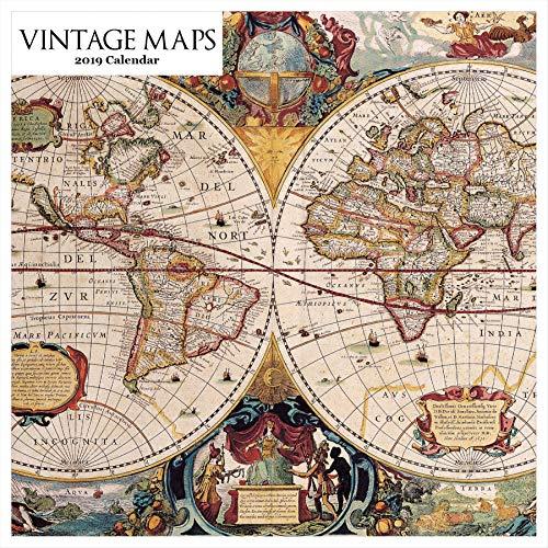Retrospect Group Vintage Maps 2019 Square Calendar (YS 1049)