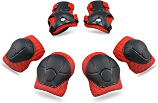 Kids Protective Gear SKL Knee Pads for Kids Knee and Elbow Pads with Wrist Guards 3 in 1 for Skating Cycling Bike Rollerblading Scooter [Upgraded Vistion 3.0]