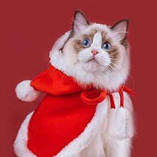 Sponsored Ad - Pet Christmas Costume,Pet Christmas Cape with Star and Pompoms,Cat Cloak,Christmas Pet Costume,Dog Cat Pet ...