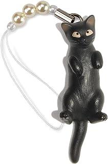 ペットラバーズ 猫どん LadyCat vol.7 黒 ビーズ ストラップ N-2705