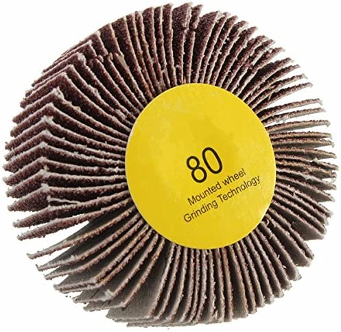 Details about  /10Pcs 12mm Flap Wheel Sandpaper Sanding Disc For Rotary Tool 80-600 Grit