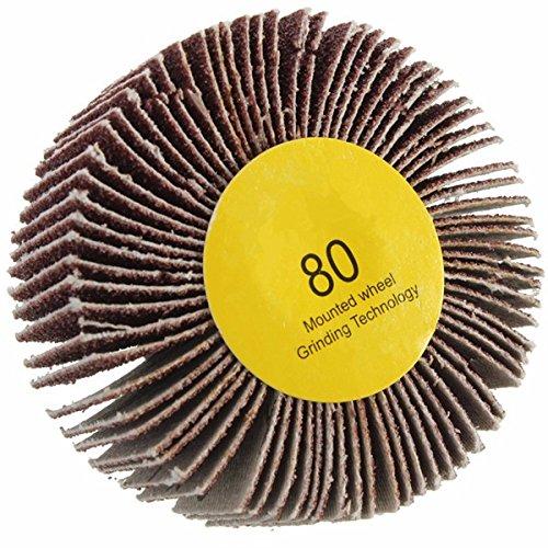 EsportsMJJ 60/80 Körnung 6Mm Schaft Klappe Bremsscheibe Schleifen Schleifmittel Schleifscheibe Für Drehwerkzeug - 80#
