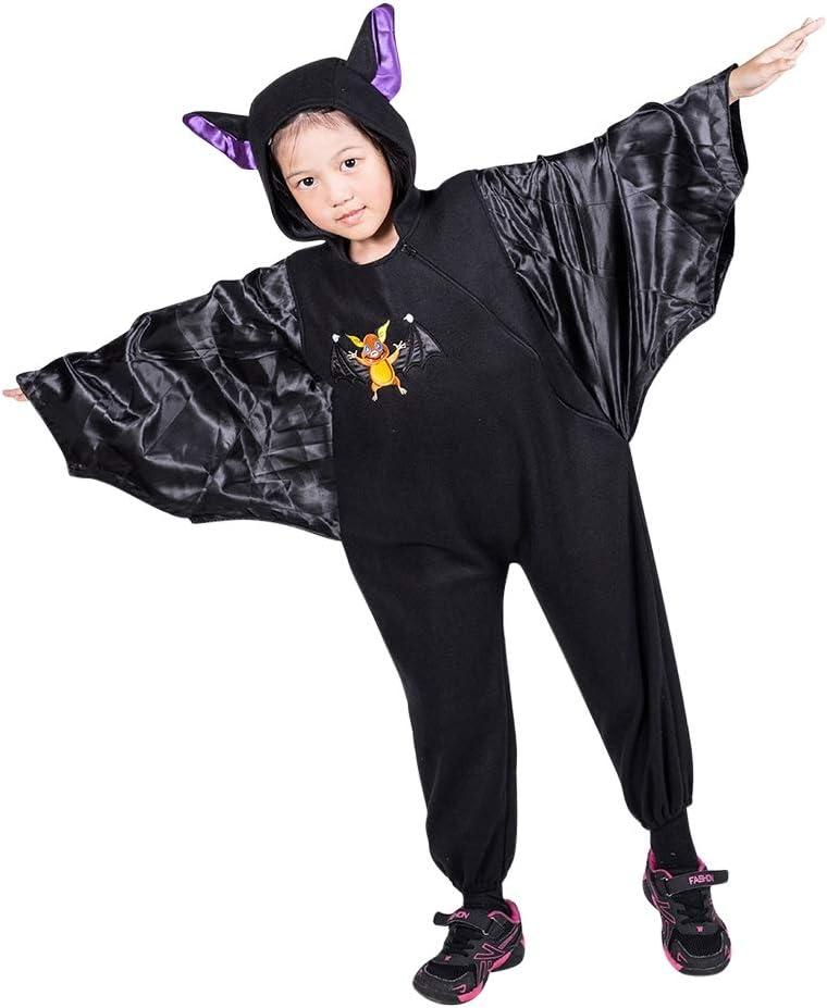Seruna Disfraz de murciélago F141 Tamaño 4-5 años (104-110 cm), Trajes de niños y niñas, para el Carnaval, también Adecuado como Regalo de cumpleaños