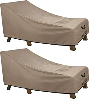 ULTCOVER Waterproof Patio Lounge Chair Cover Heavy Duty Outdoor Chaise Lounge Covers 2 Pack - 76L x 32W x 32H inch