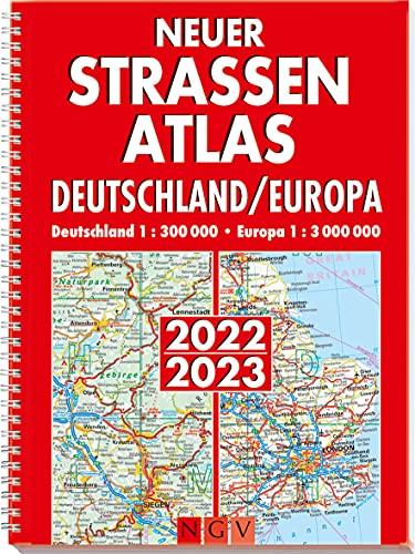 Neuer Straßenatlas Deutschland/Europa 2022/2023: Deutschland 1 : 300 000 . Europa 1 : 3 000 000