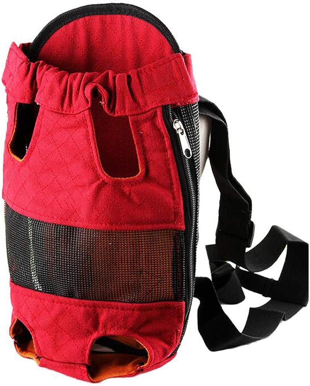 FJH Dog Backpack Dog Bag Out Shoulders Teddy Pet Bag Dog Chest Bag Portable Pet Out Small Dog