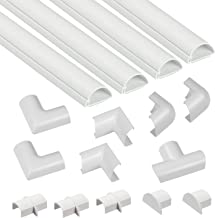 D-Line Mini Cable Raceway Kit | Self-Adhesive Wire Covers | Electrical Raceway, Popular Cable Organizer for Home Theater, TV, Office and Home | 4 x 39