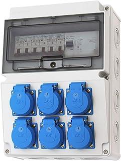 Wandverteiler 6x 230V Stromverteiler Baustromverteiler Feuchtraumverteiler 230V 2-3