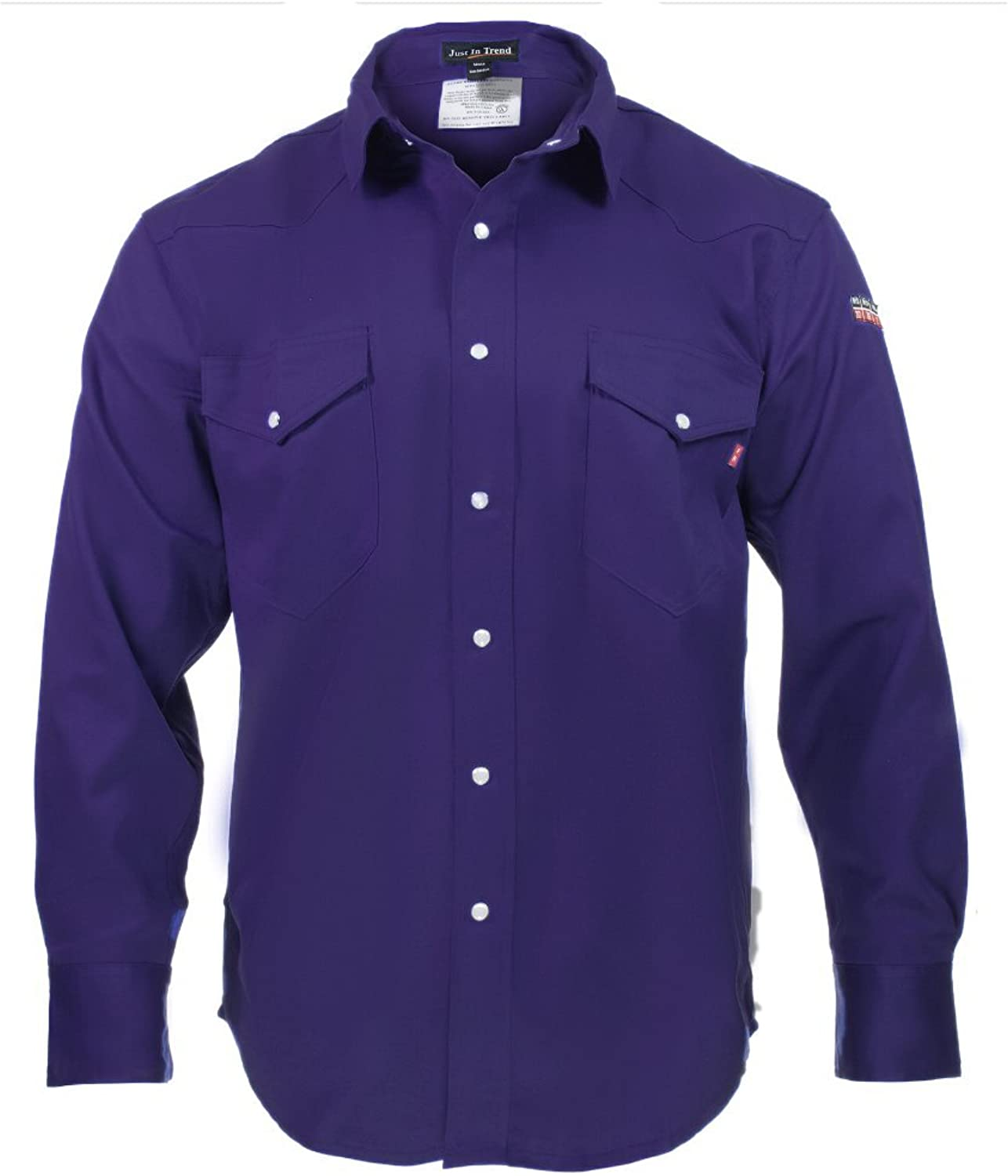 - Just In Trend Flame Resistant FR Shirt Shirt Shirt - 88 12 (Small, Navy bluee) 8c001f