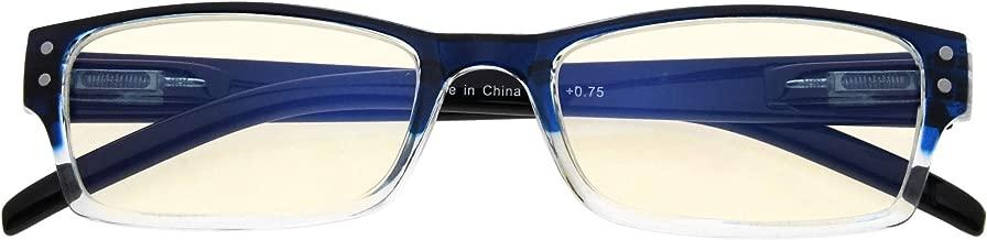 Anti Blue Rays Reduce Eyestrain and Headache Eyeglasses Computer Reading Glasses