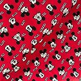 Swafing GmbH Lizenz Jersey Mickey Mouse Kopf rot - Stoff -