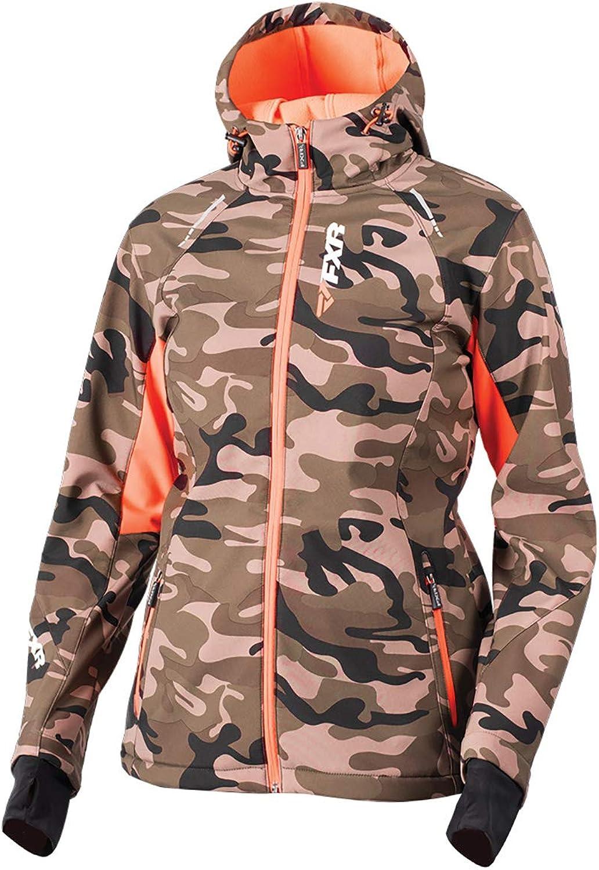 FXR Women's Pulse Softshell Jacket 18Army Urb Camo Elec Tangerine10